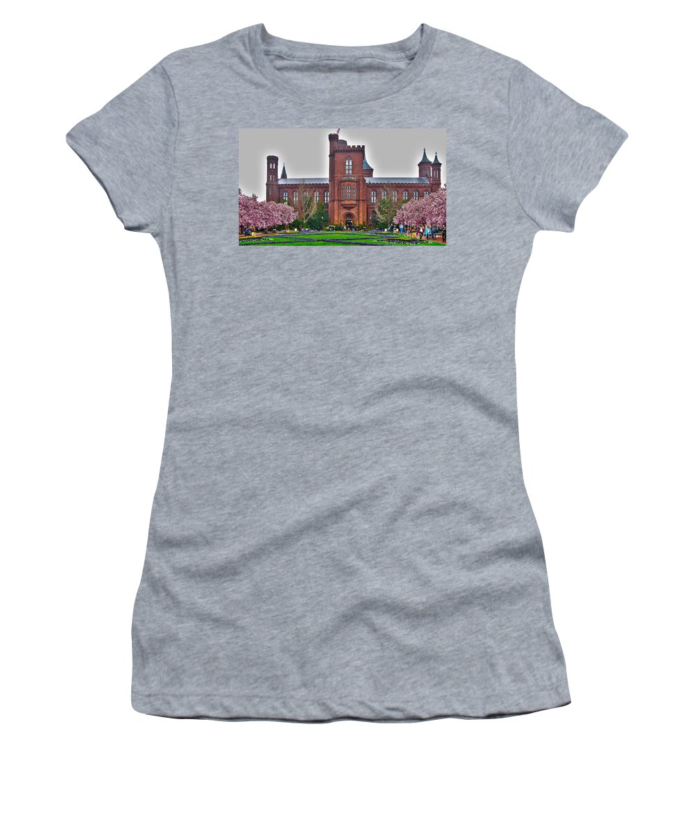 Smithsonian Castle Women's T-Shirt featuring the photograph Smithsonian Castle by Jack Schultz