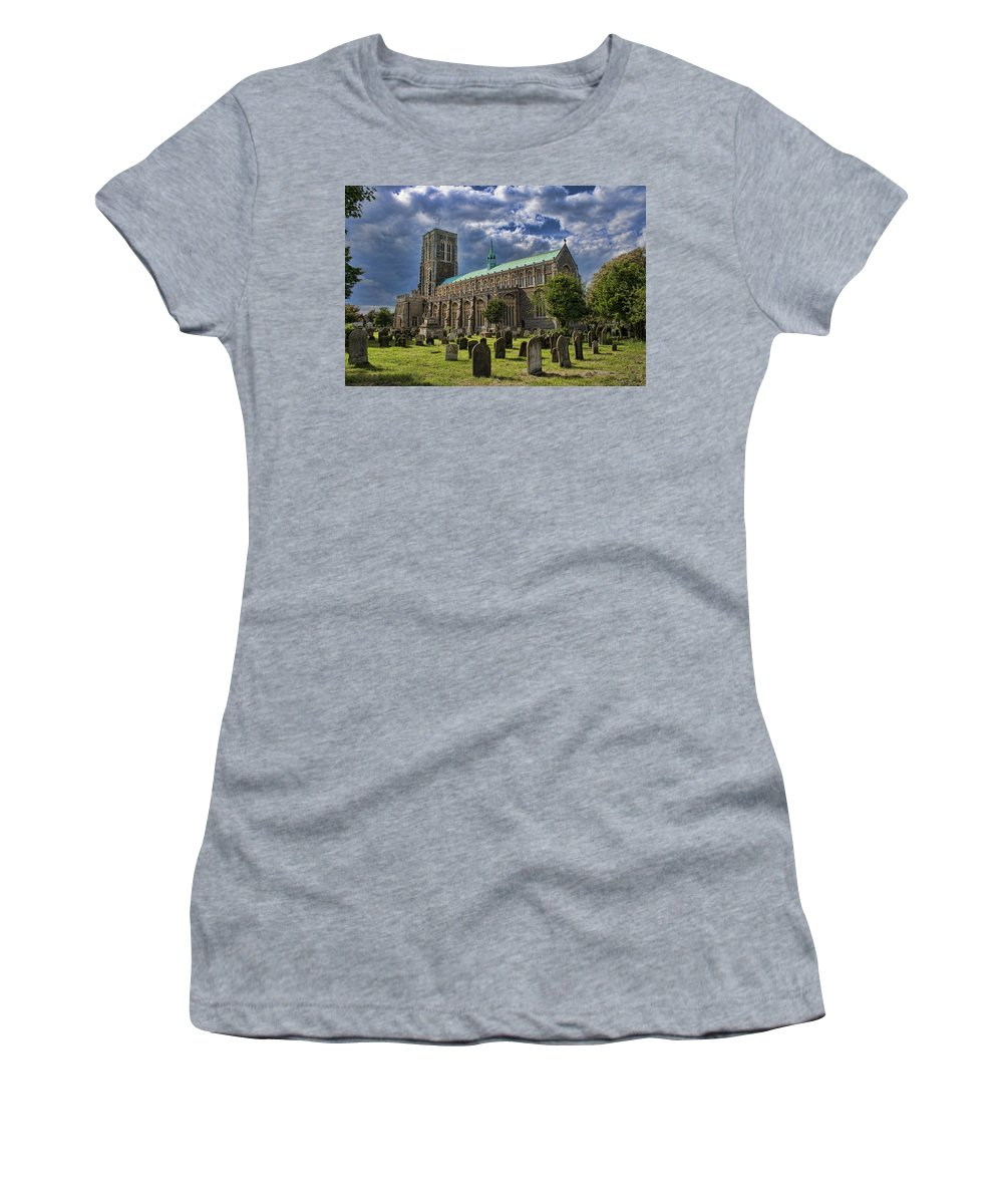 Southwold Women's T-Shirt featuring the photograph St Edmund King And Martyr Southwold by Dave Godden
