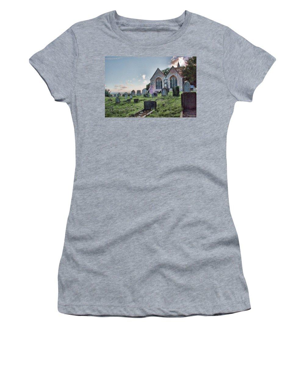 Church Women's T-Shirt featuring the photograph St Michael's East Peckham by Dave Godden