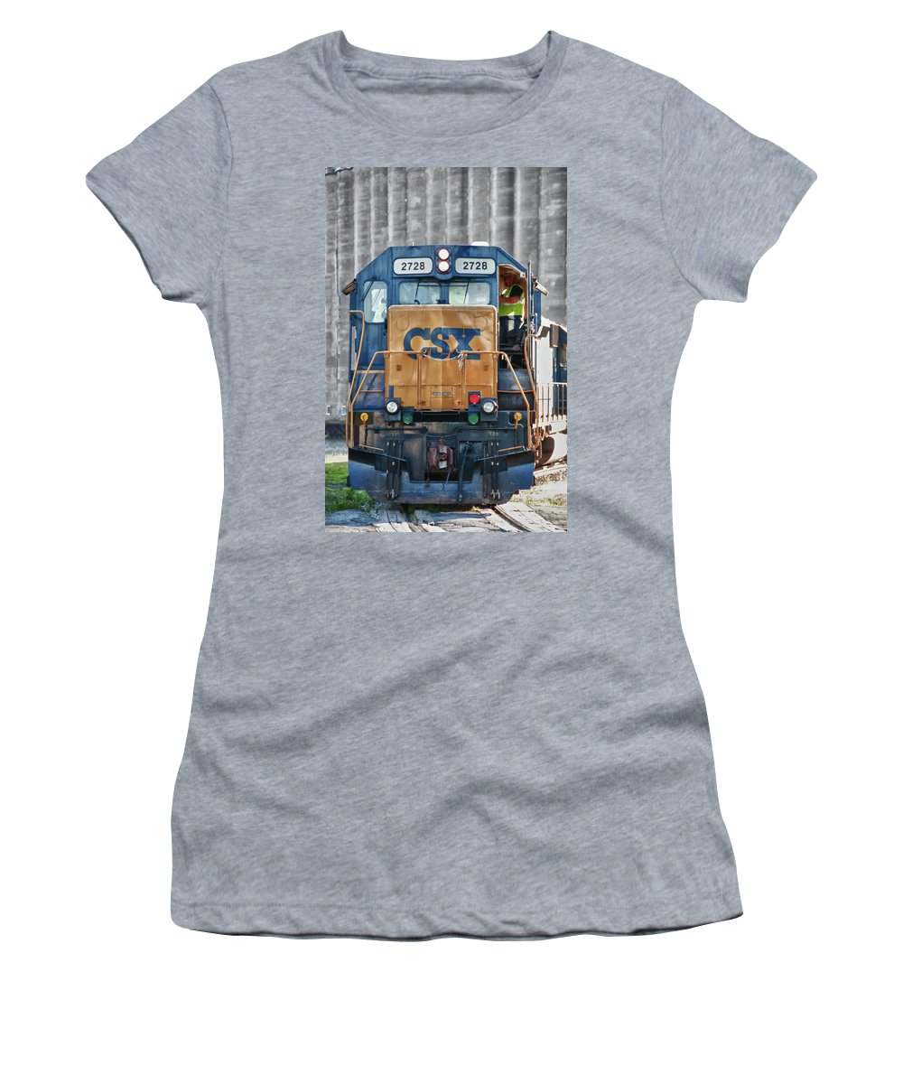 Guy Whiteley Photography Women's T-Shirt (Athletic Fit) featuring the photograph Stalled 7141 by Guy Whiteley