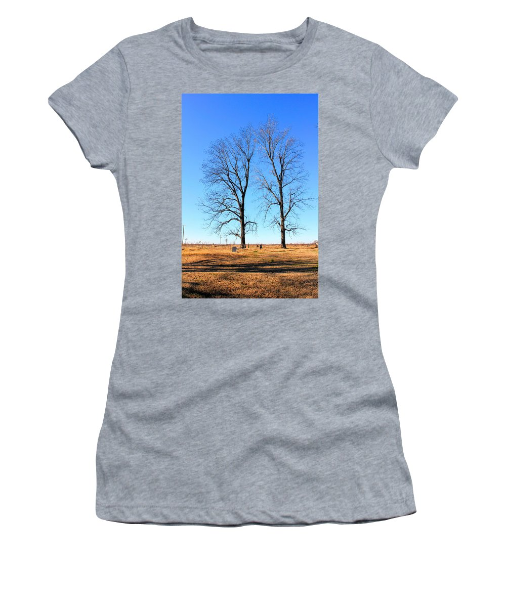 Mississippi Women's T-Shirt (Athletic Fit) featuring the photograph Standing Alone Together by Karen Wagner