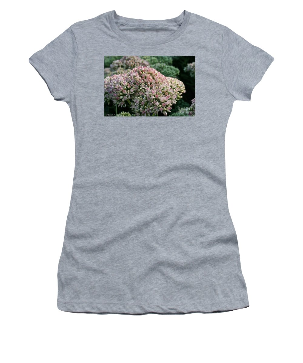 Outdoors Women's T-Shirt (Athletic Fit) featuring the photograph Stonecrop by Susan Herber