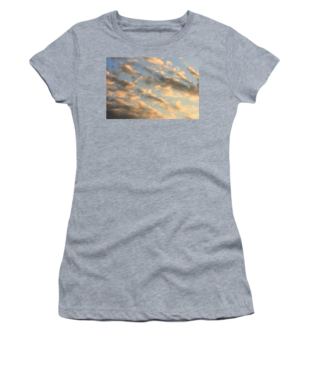 Clouds Women's T-Shirt (Athletic Fit) featuring the photograph Summer Sky by Angela Rath