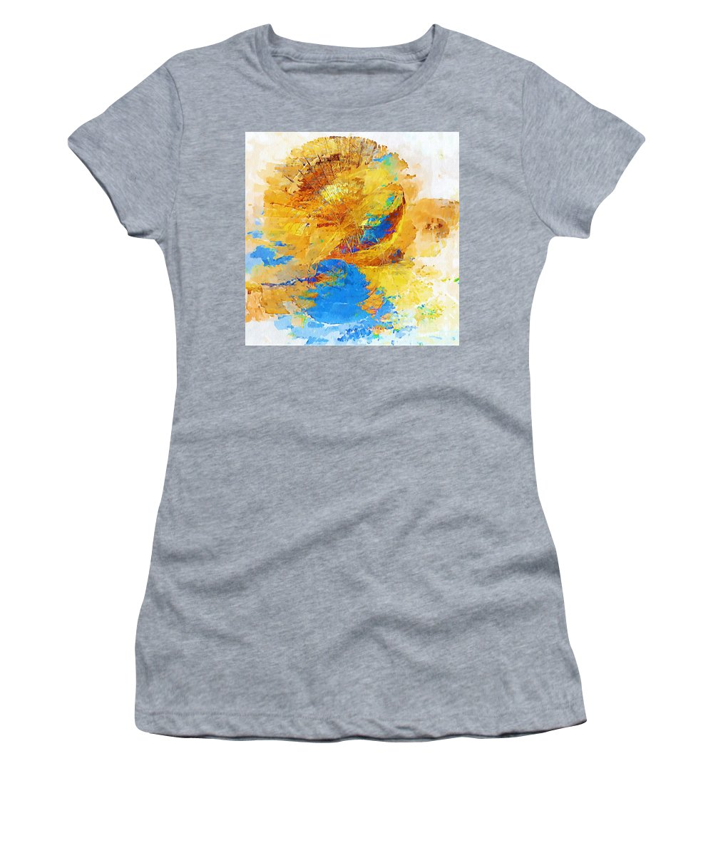 Painting Women's T-Shirt (Athletic Fit) featuring the digital art Sunrise by Marek Lutek
