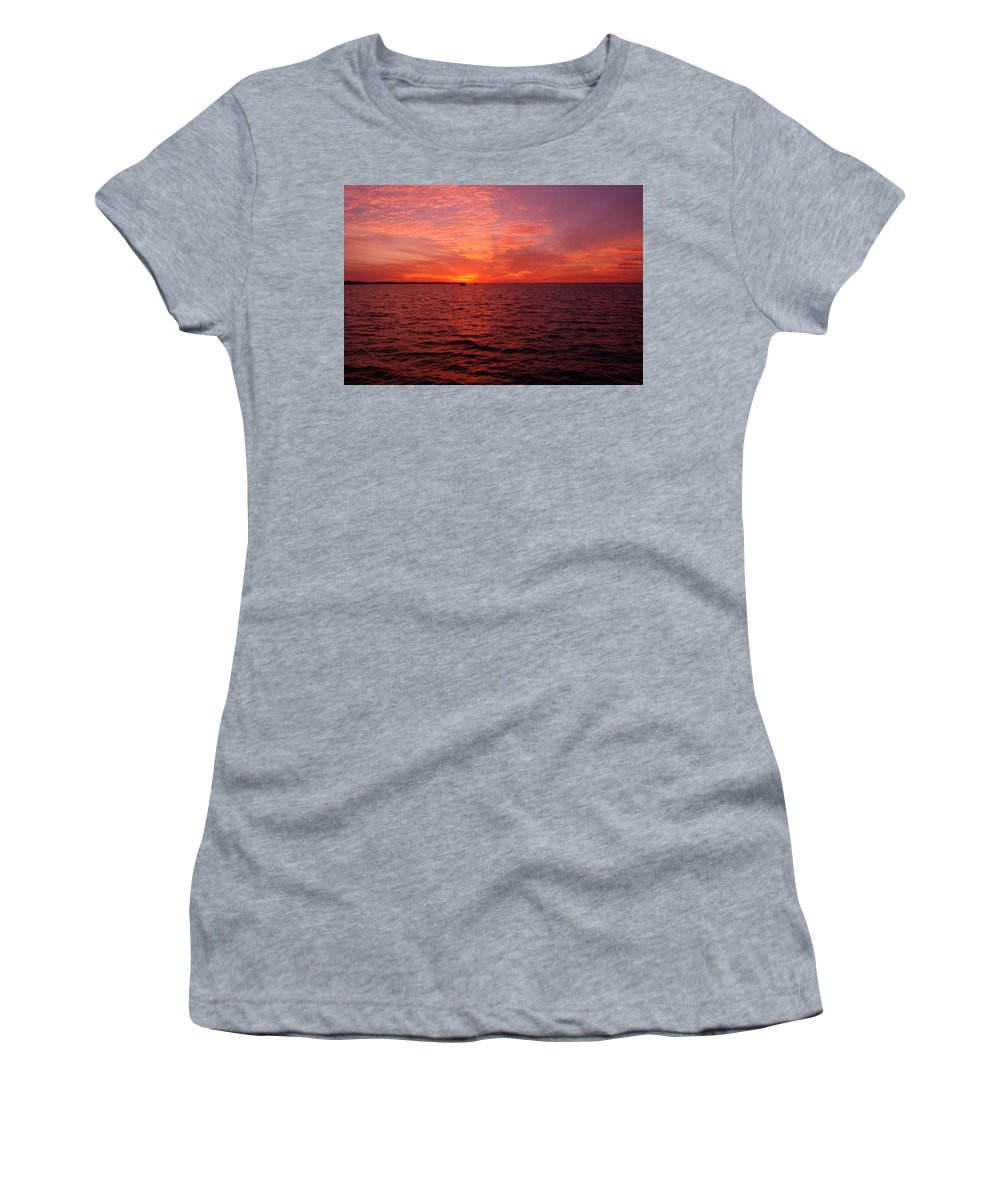 Sunset Women's T-Shirt featuring the photograph Sunset Iv by Joe Faherty