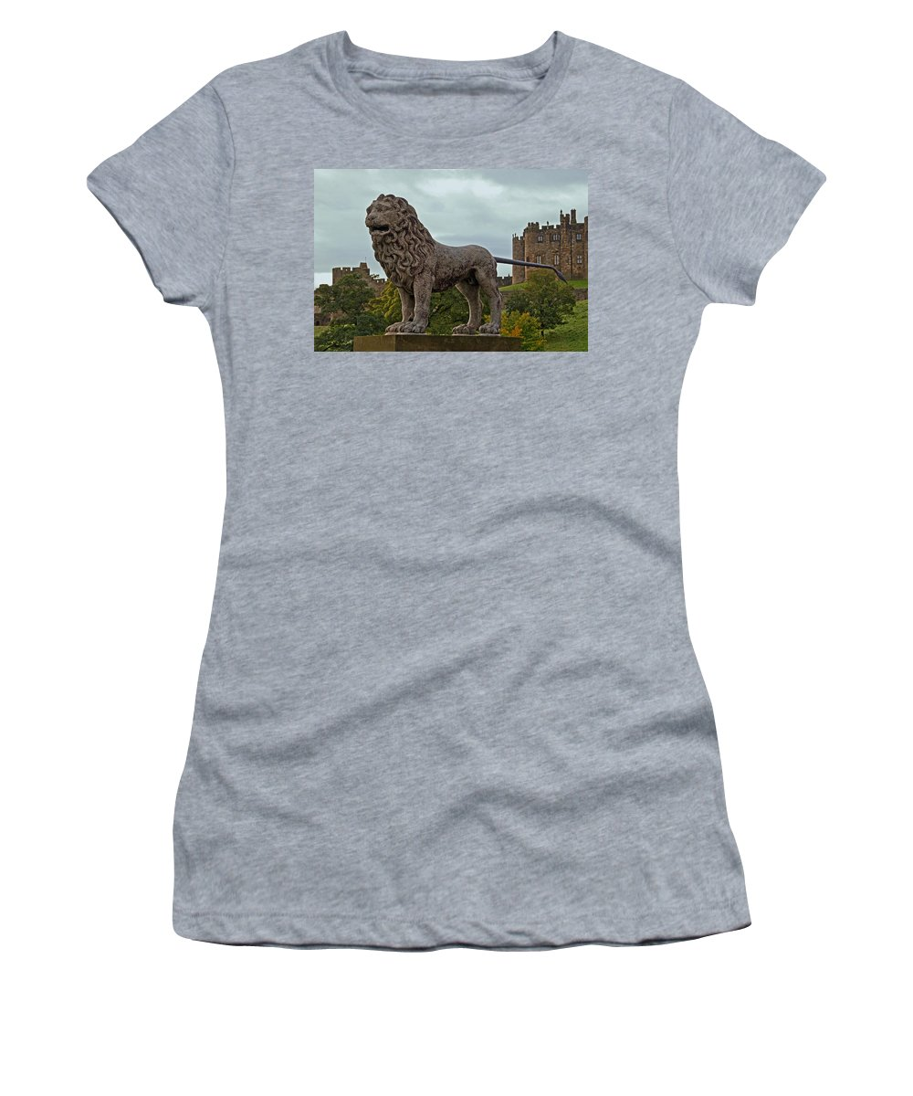 Alnwick Women's T-Shirt (Athletic Fit) featuring the photograph The Alnwick Lion by David Pringle