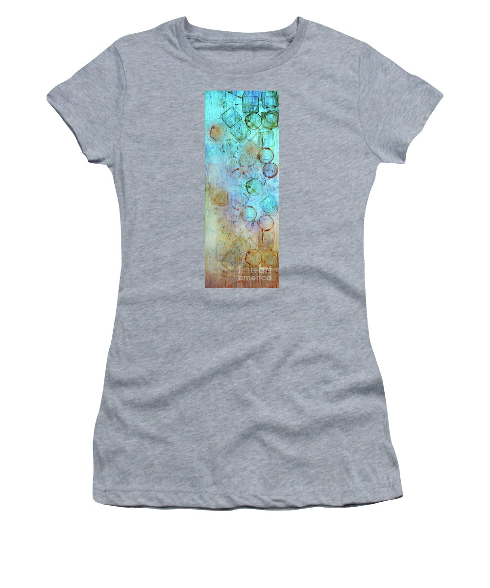 Abstract Women's T-Shirt (Athletic Fit) featuring the digital art The Beauty In Shapes by Tara Turner
