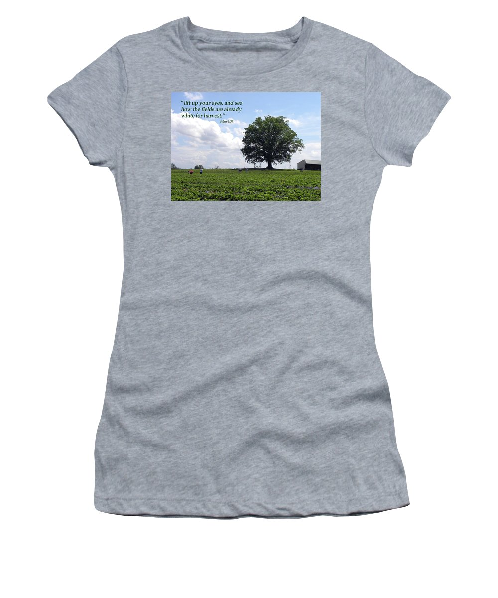 Harvest Women's T-Shirt (Athletic Fit) featuring the photograph The Harvest by Sandi OReilly