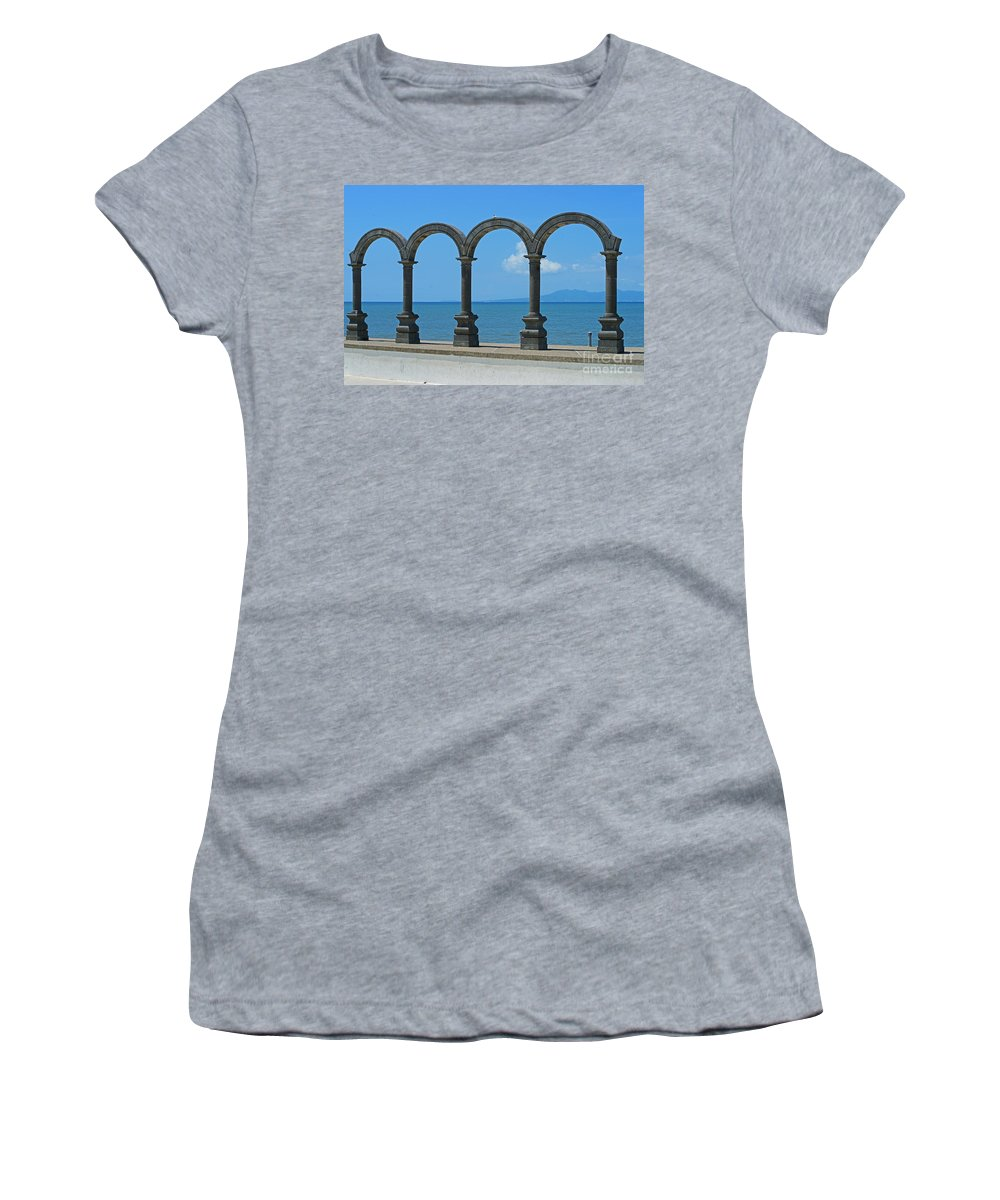 The Malacon Women's T-Shirt (Athletic Fit) featuring the photograph The Malacon by Randy Harris