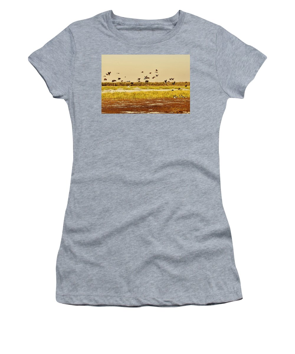 Billabong Women's T-Shirt (Athletic Fit) featuring the photograph The Wetlands by Douglas Barnard