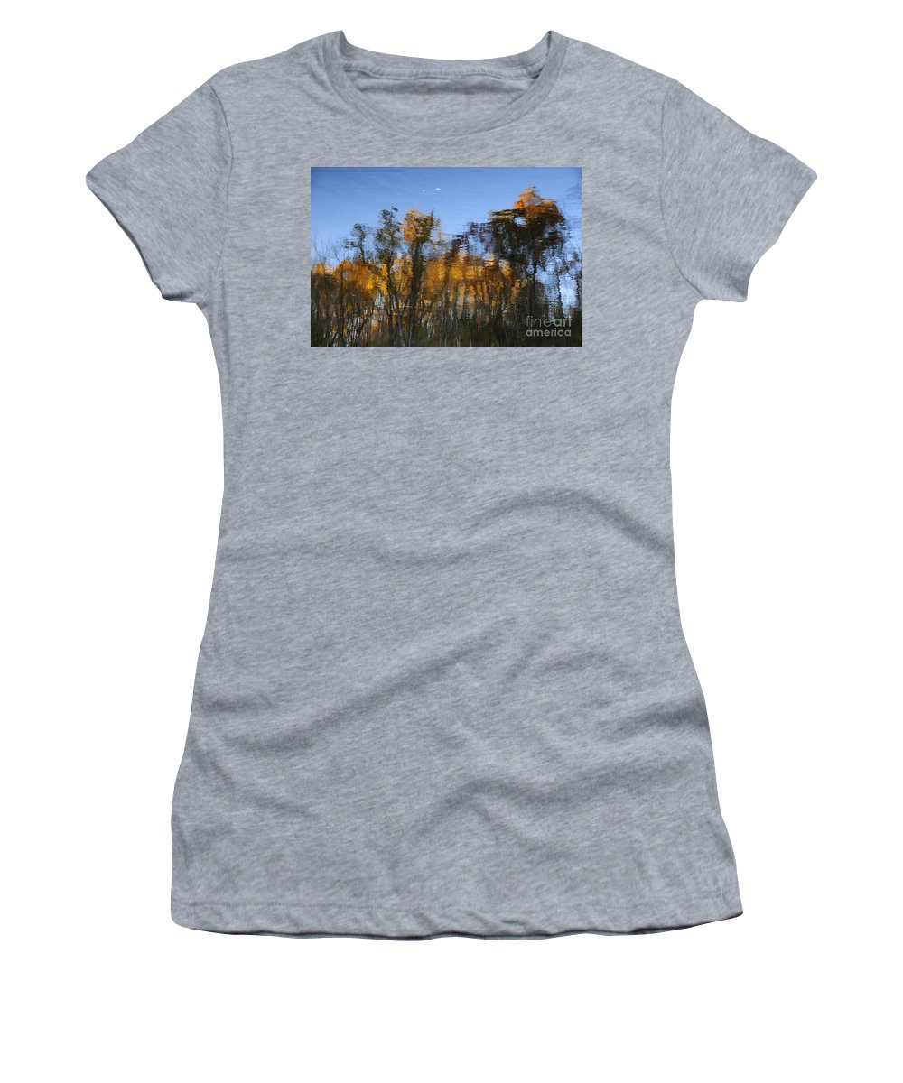 Abstract Women's T-Shirt featuring the photograph Trees In The Water by David Arment