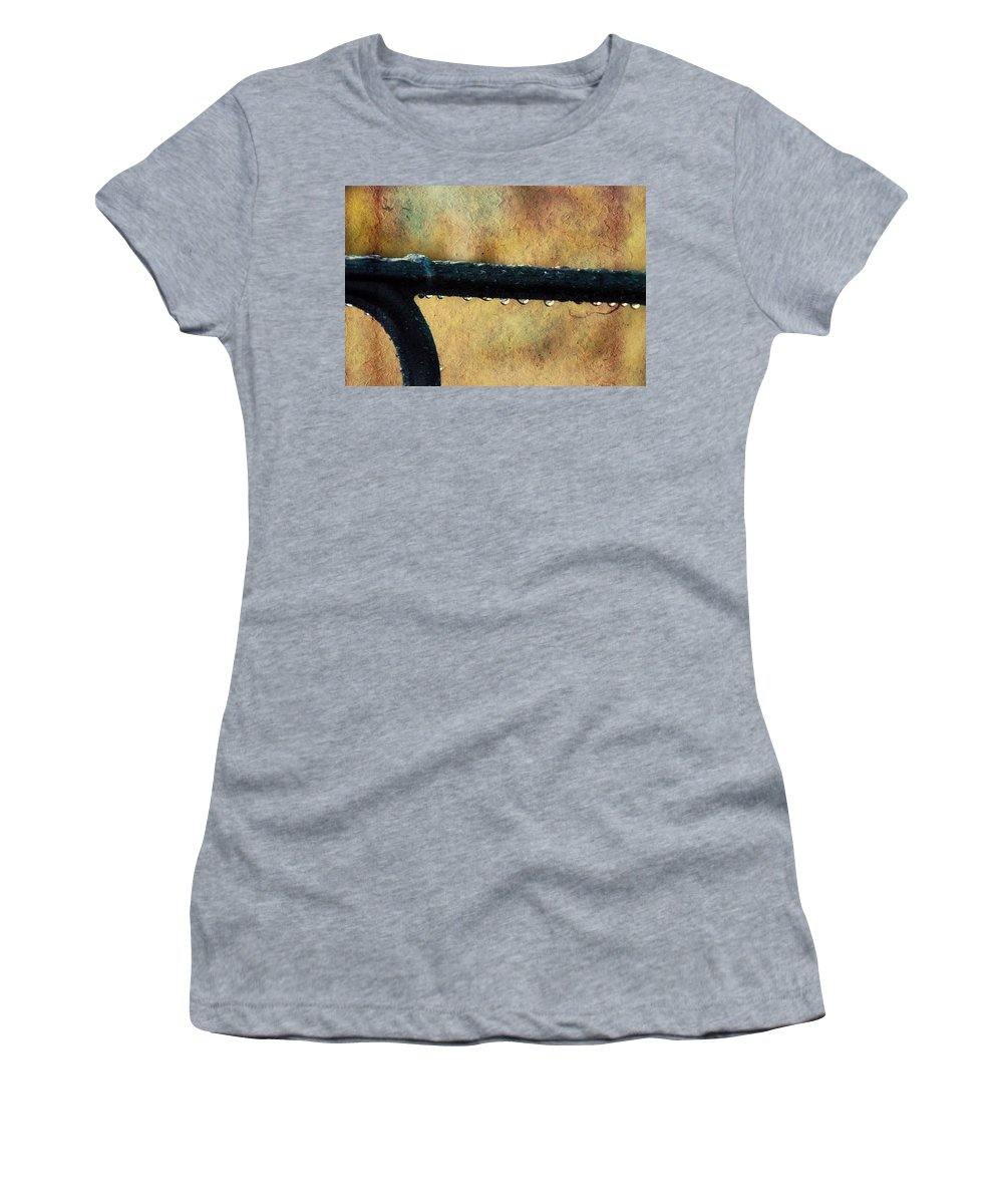 Bench Women's T-Shirt featuring the photograph Walk Me Out In The Morning Dew by Trish Tritz