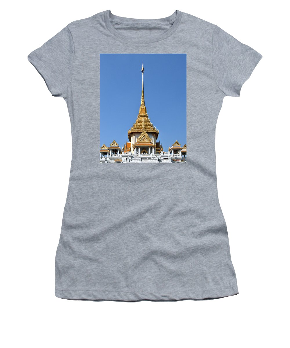 Bangkok Women's T-Shirt (Athletic Fit) featuring the photograph Wat Traimit Phra Maha Mondop Of The Golden Buddha Dthb956 by Gerry Gantt