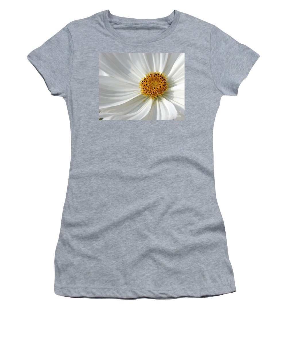 Flowers Women's T-Shirt (Athletic Fit) featuring the photograph White Cosmos by Jack Schultz