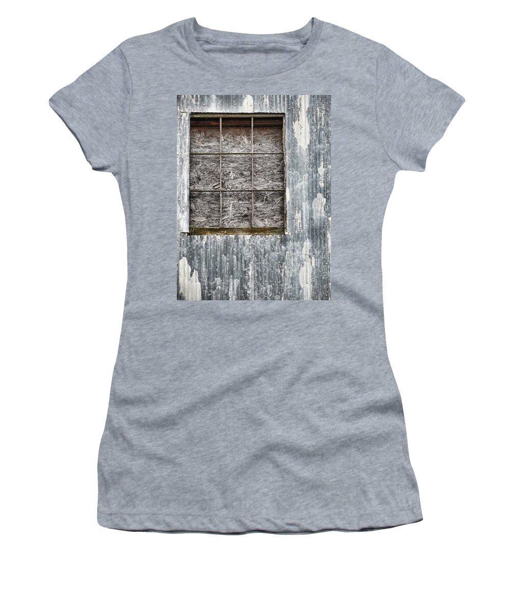 Grunge Women's T-Shirt (Athletic Fit) featuring the photograph Window In Time 3 by Kathy Clark