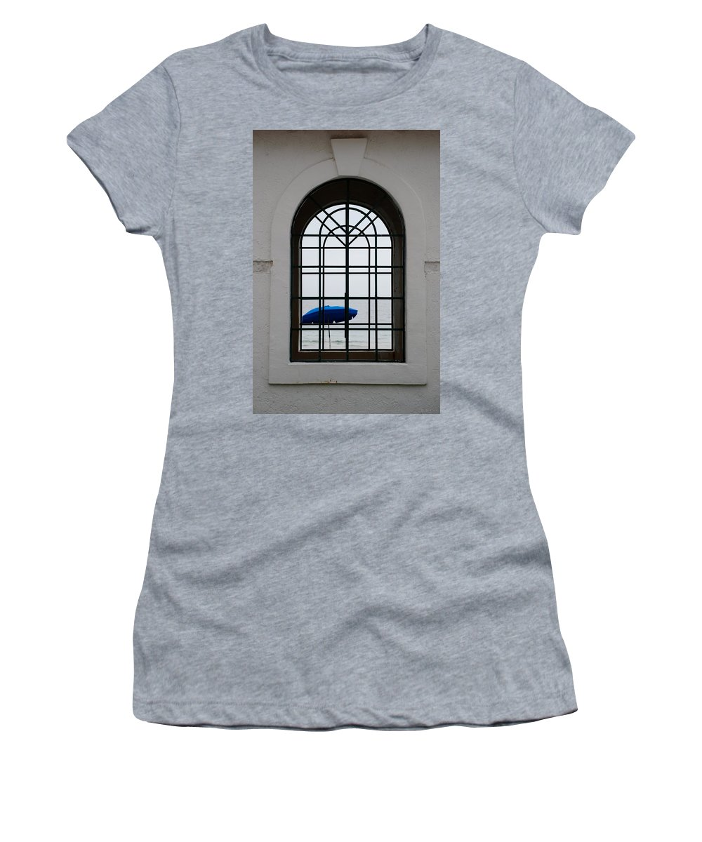 Windows Women's T-Shirt (Athletic Fit) featuring the photograph Windows On The Beach by Rob Hans