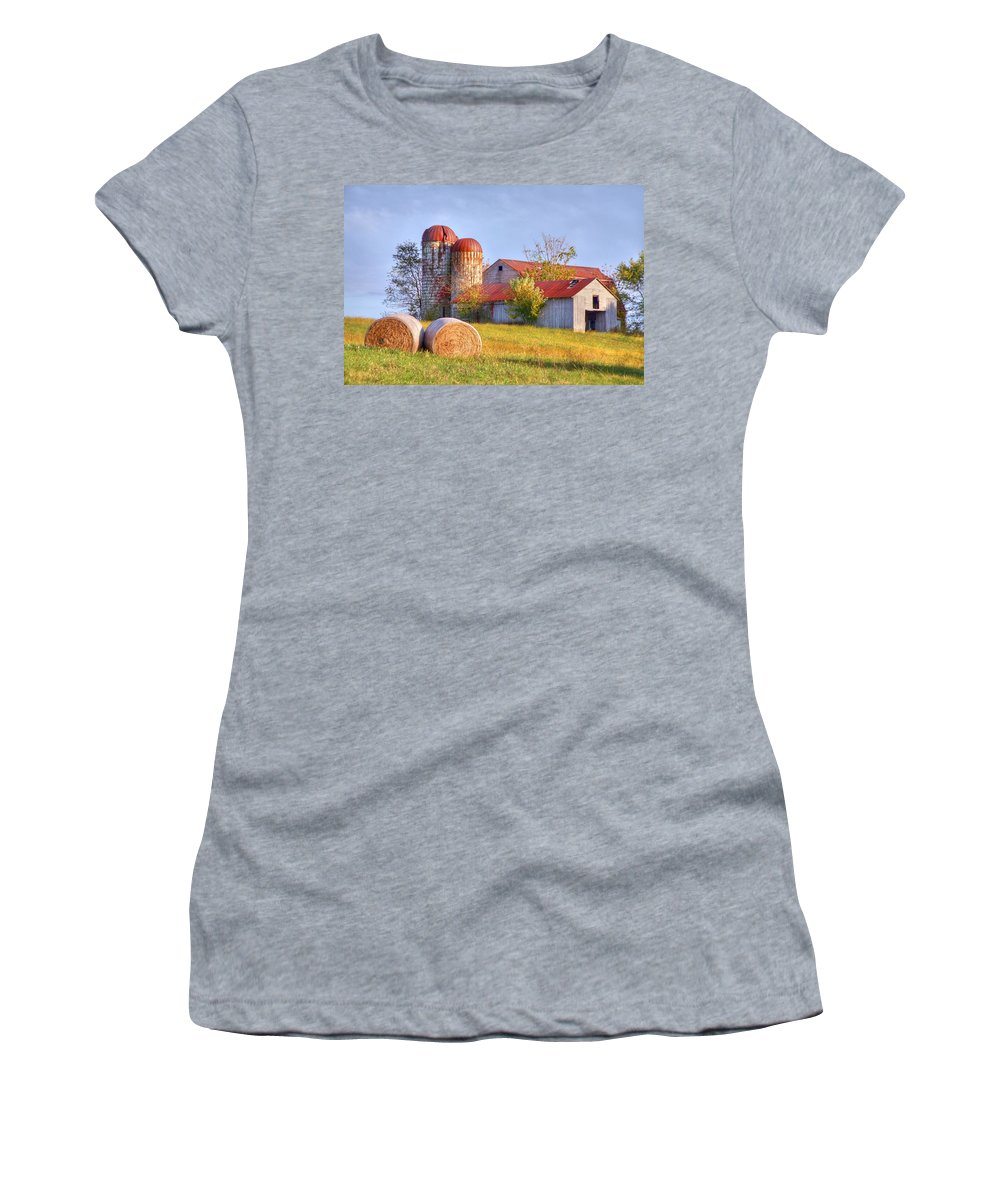 Barn Women's T-Shirt (Athletic Fit) featuring the photograph Two by Mitch Cat