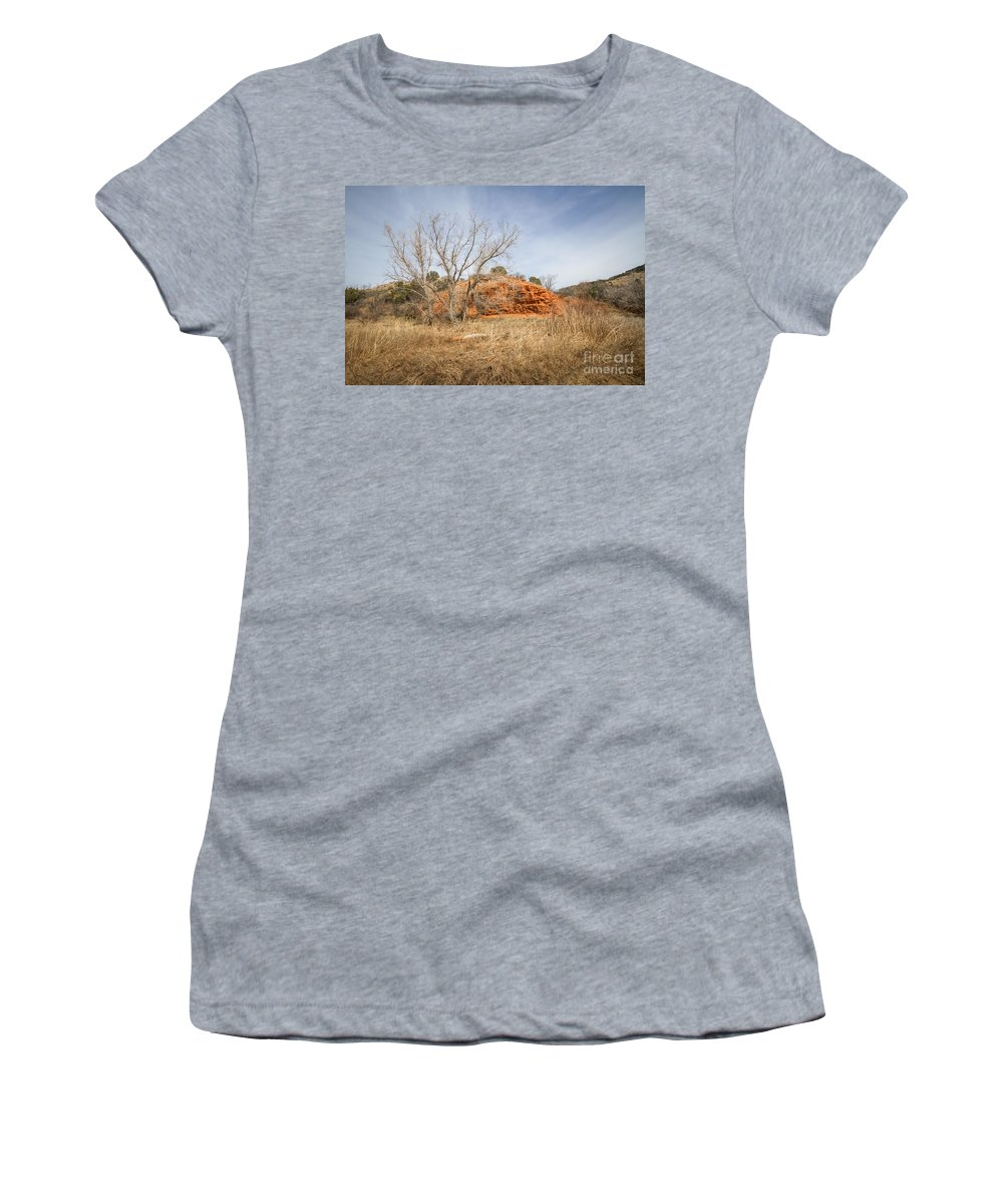 Palo Duro Canyon Women's T-Shirt (Athletic Fit) featuring the photograph 030715 Palo Duro Canyon 160 by Ashley M Conger
