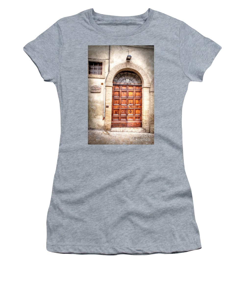 Assisi Women's T-Shirt (Athletic Fit) featuring the photograph 0959 Assisi Italy by Steve Sturgill