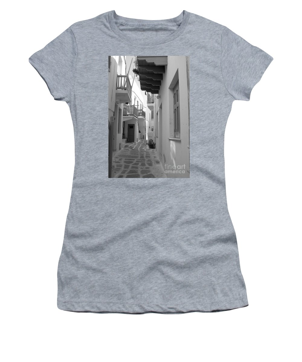 Alley Women's T-Shirt (Athletic Fit) featuring the photograph Alley Way by Joe Ng
