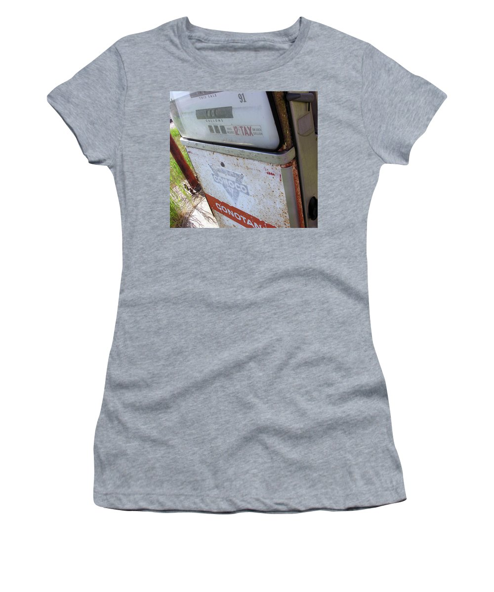 Gas Pump Women's T-Shirt (Athletic Fit) featuring the photograph At The Pump 1 by Adam Vance