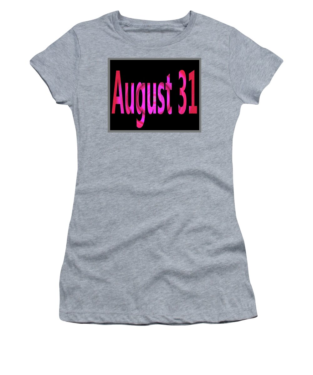 August Women's T-Shirt featuring the digital art August 31 by Day Williams