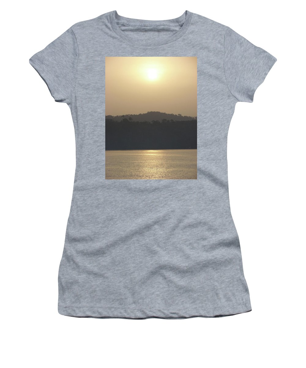 Cameroon Photographs Women's T-Shirt (Athletic Fit) featuring the photograph Cameroon Sunrise Africa by Brett Winn