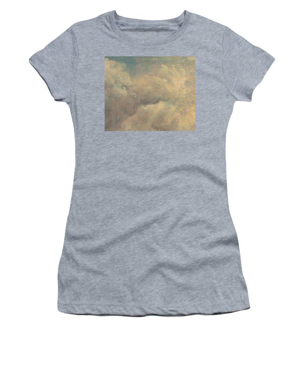 English Romantic Painters Women's T-Shirt featuring the painting Cloud Study by John Constable