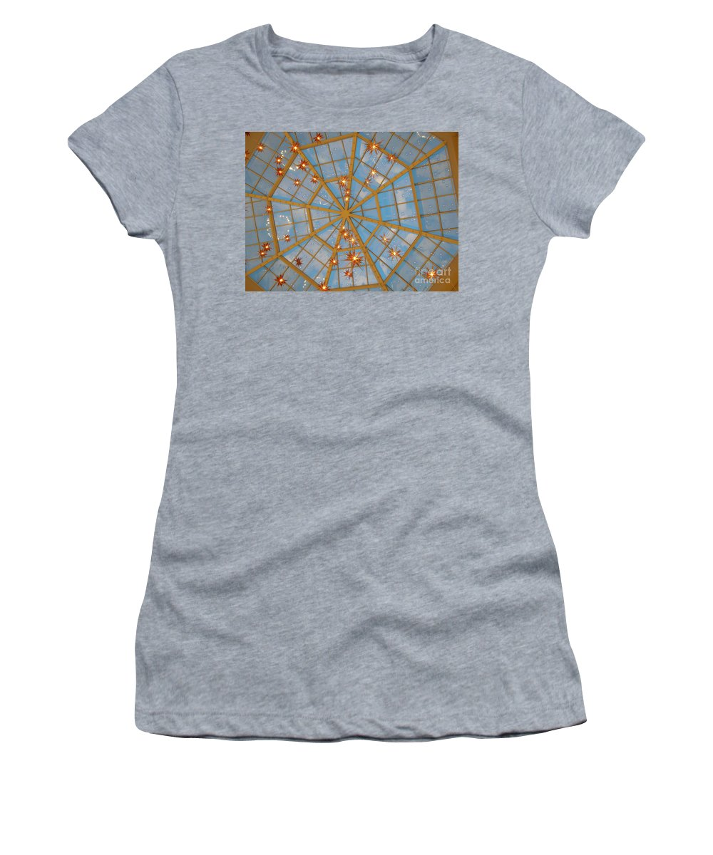 Glass Women's T-Shirt (Athletic Fit) featuring the photograph Crystal Web by Maria Bonnier-Perez