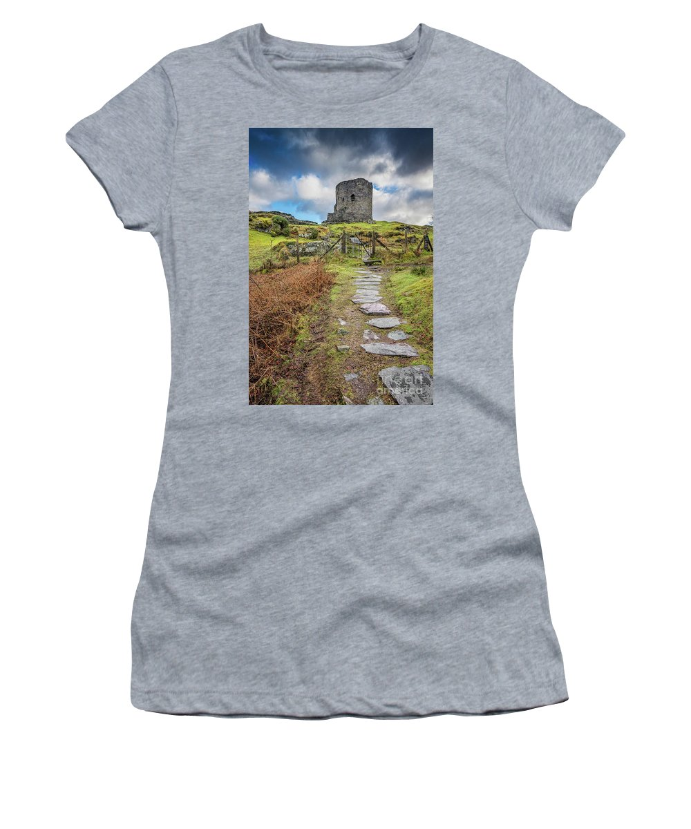 Castle Women's T-Shirt featuring the photograph Dolbadarn Castle Snowdonia by Adrian Evans