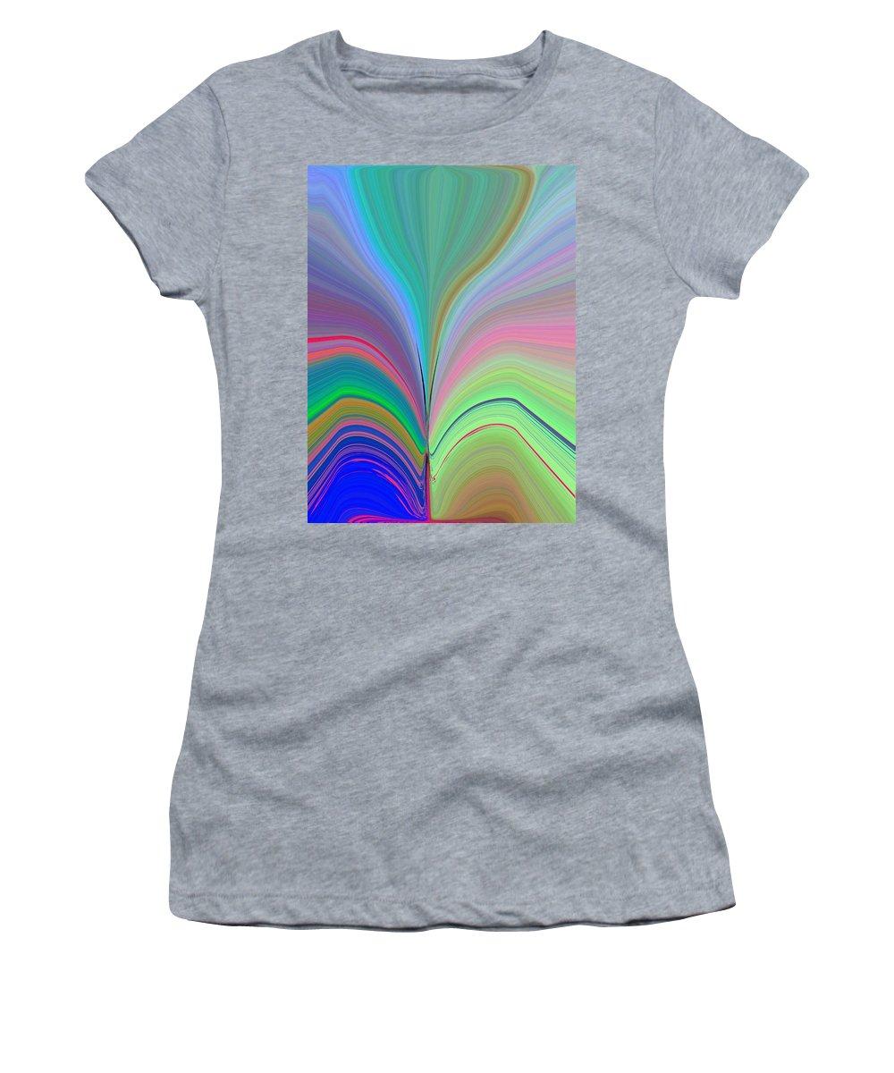 Flower Women's T-Shirt (Athletic Fit) featuring the digital art Elation by Tim Allen