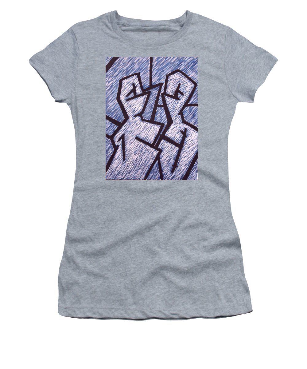 Painting Women's T-Shirt (Athletic Fit) featuring the painting Friends by Thomas Valentine