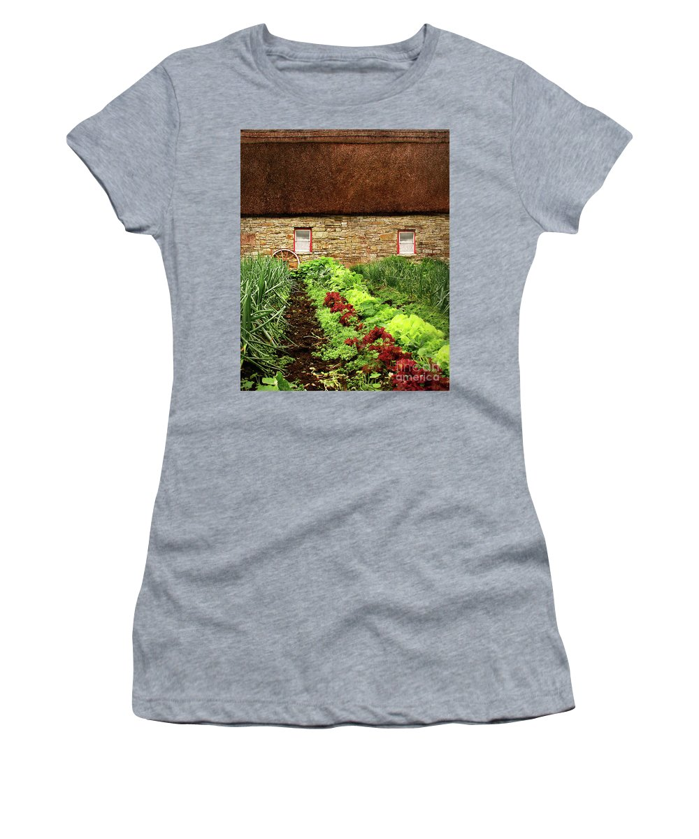 Farm Women's T-Shirt (Athletic Fit) featuring the digital art Garden Farm by Vicki Lea Eggen