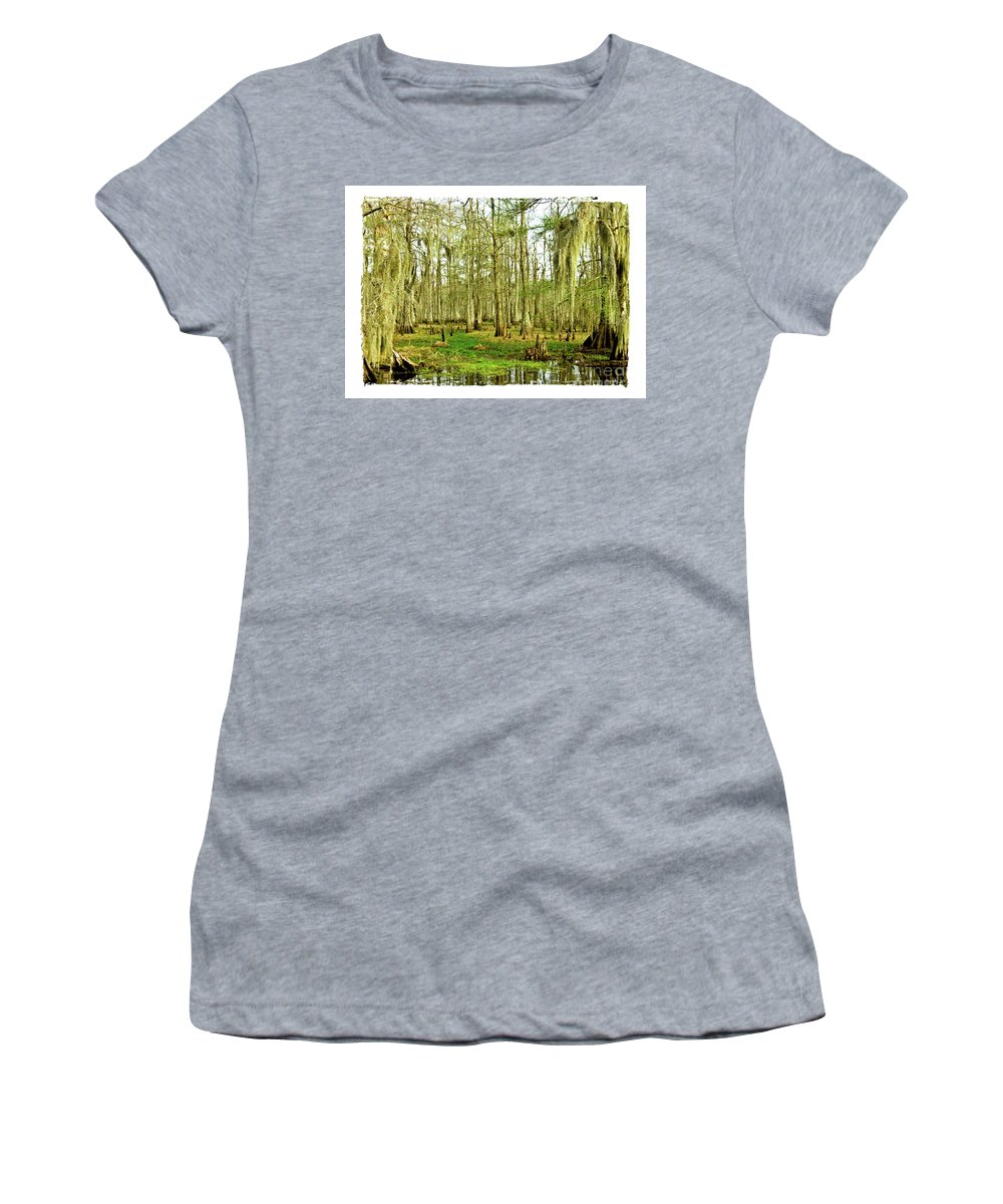 Swamp Women's T-Shirt (Athletic Fit) featuring the photograph Grand Bayou Swamp by Scott Pellegrin