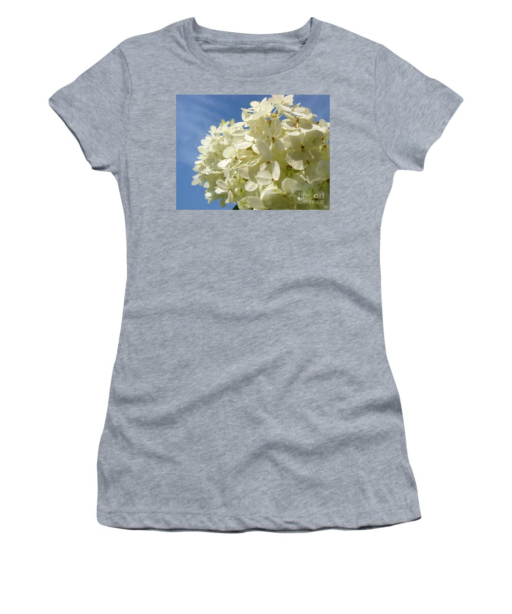 Hydranga Women's T-Shirt (Athletic Fit) featuring the photograph Hydrangea by Amanda Barcon