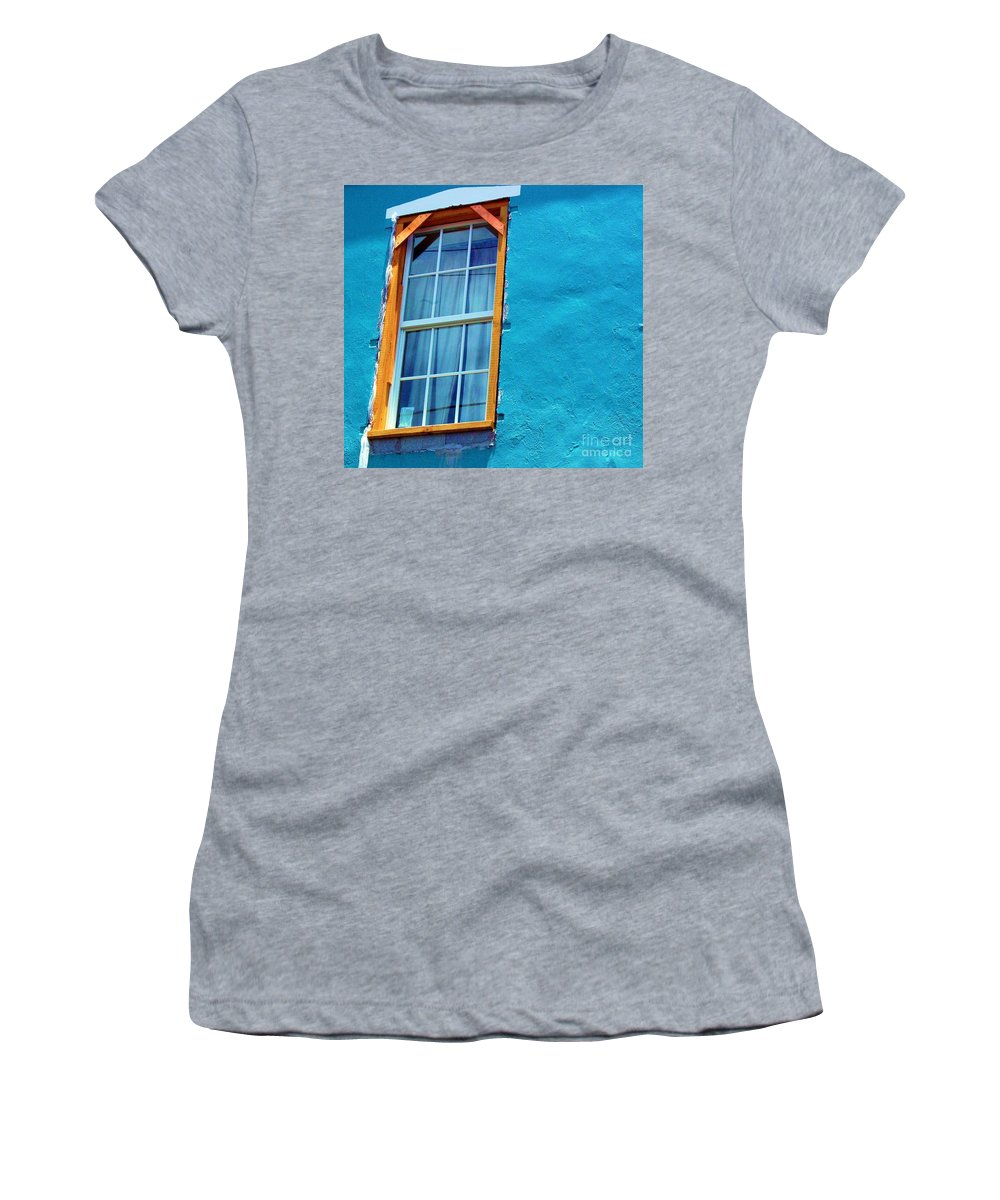 Window Women's T-Shirt (Athletic Fit) featuring the photograph I Got The Blues by Debbi Granruth