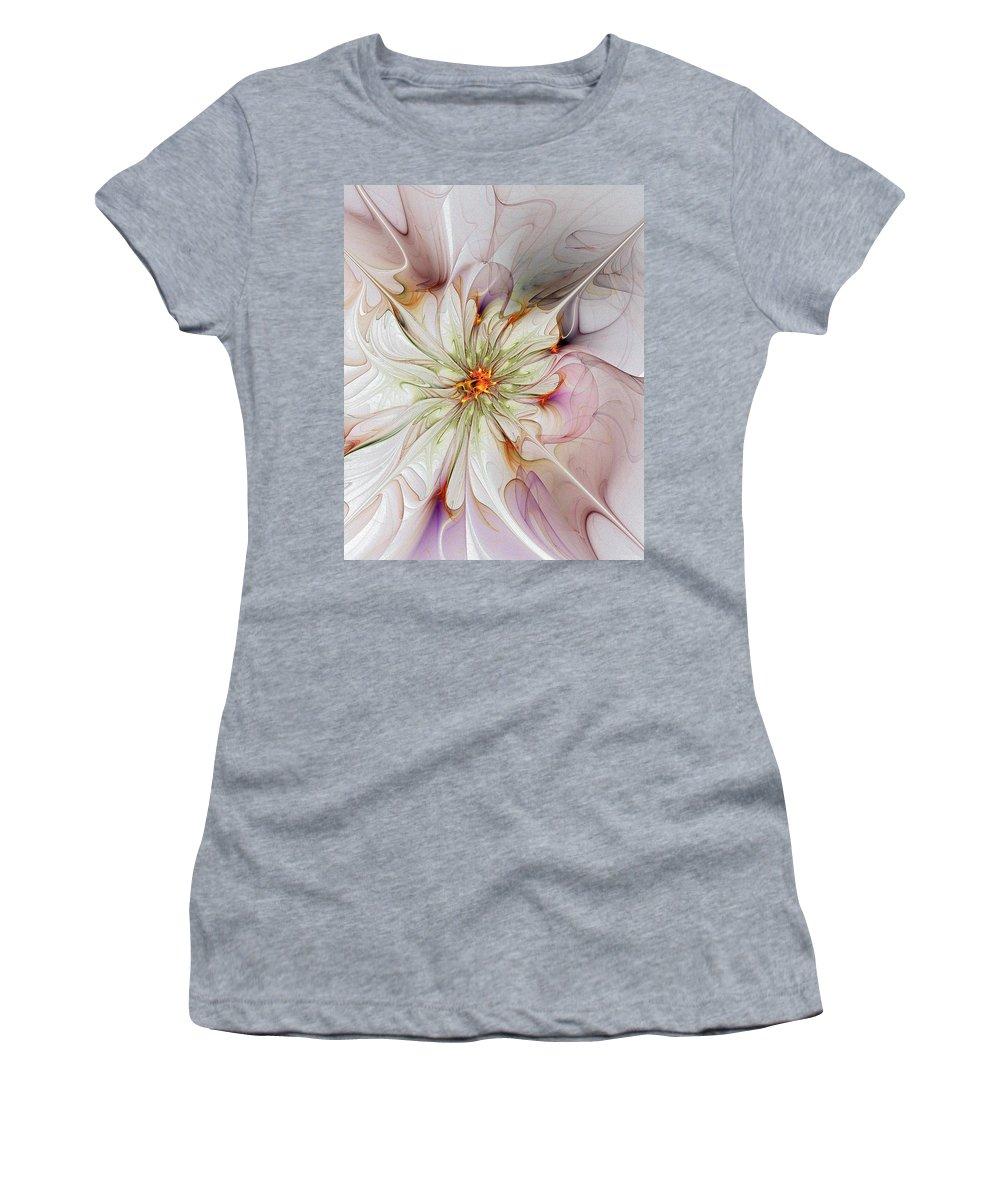 Digital Art Women's T-Shirt featuring the digital art In Full Bloom by Amanda Moore