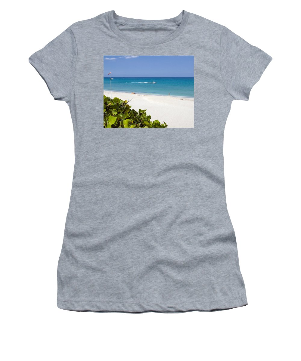 Juno; Florida; Loxahatchee; River; Jupiter; Inlet; Swim; Swimming; Children; Girl; Boy; Woman; Man; Women's T-Shirt (Athletic Fit) featuring the photograph Juno Florida by Allan Hughes