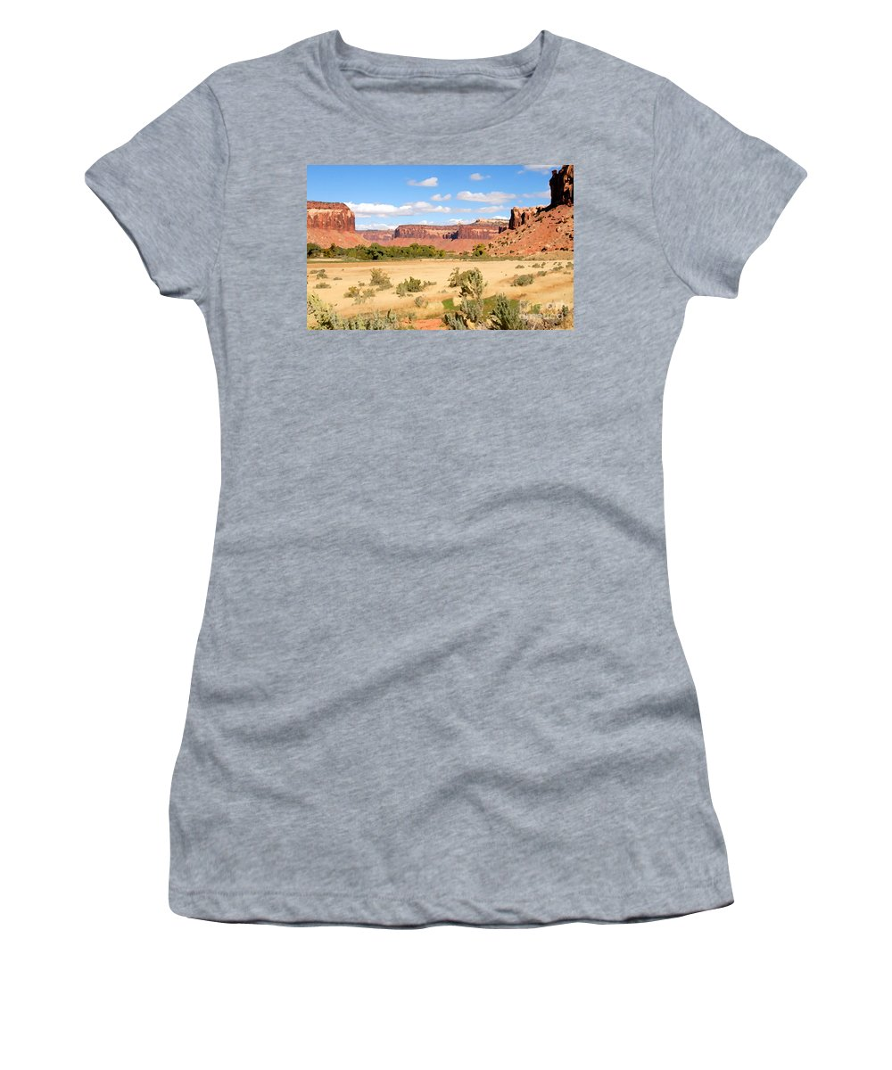 Canyon Lands Women's T-Shirt featuring the photograph Land Of Canyons by David Lee Thompson