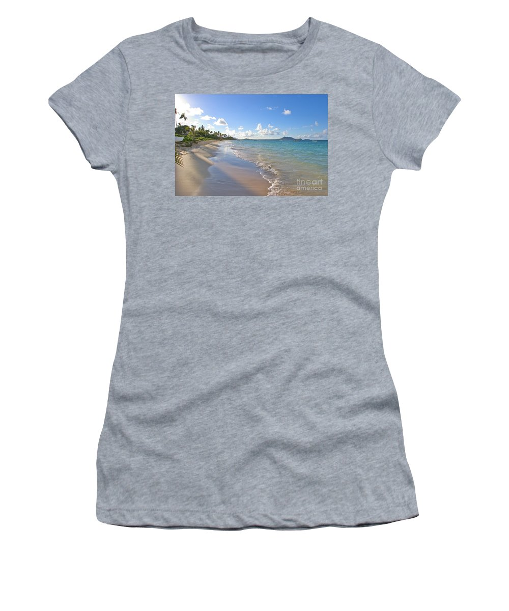 Afternoon Women's T-Shirt (Athletic Fit) featuring the photograph Lanikai Late Afternoon by Tomas del Amo - Printscapes