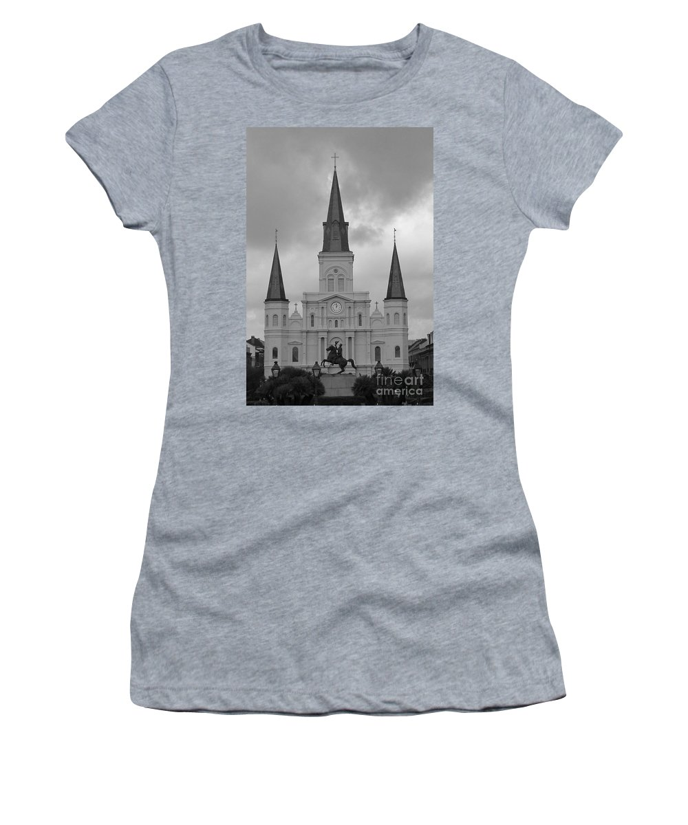 French Quarter Women's T-Shirt (Athletic Fit) featuring the photograph Model Church by Michelle Powell