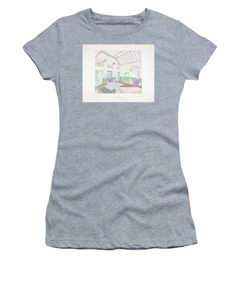 Max Joseph Gradl Women's T-Shirt (Athletic Fit) featuring the painting Modern Design by Joseph Gradl