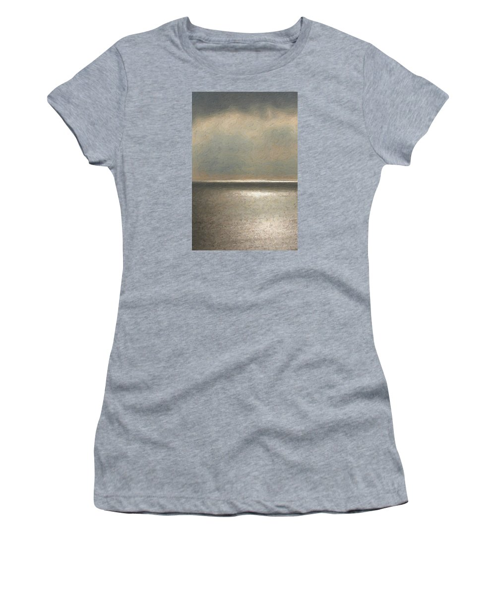 �not Quite Rothko� Collection By Serge Averbukh Women's T-Shirt featuring the photograph Not quite Rothko - Twilight Silver by Serge Averbukh