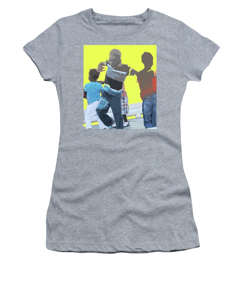 Children Women's T-Shirt (Athletic Fit) featuring the photograph Play by Ian MacDonald