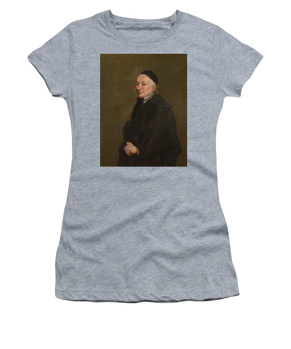 Giacomo Women's T-Shirt (Athletic Fit) featuring the digital art Portrait Of A Priest by PixBreak Art