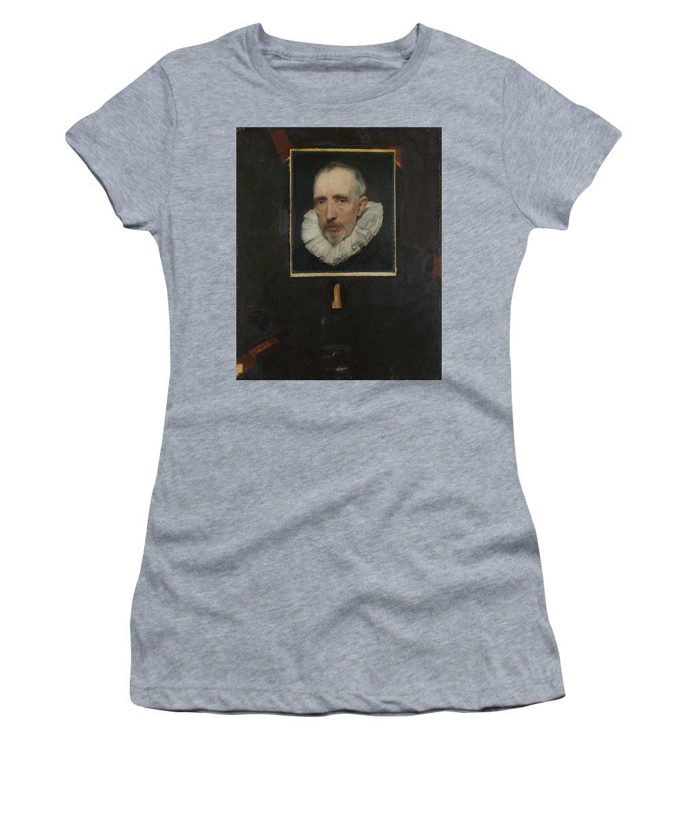 Anthony Women's T-Shirt (Athletic Fit) featuring the digital art Portrait Of Cornelis Van Der Geest by PixBreak Art