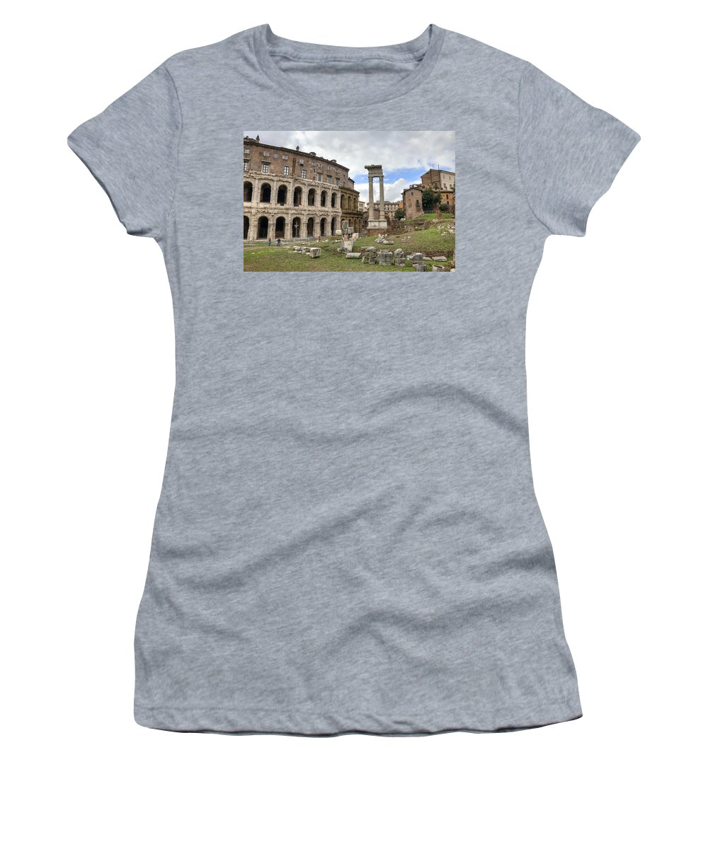 Teatro Di Marcello Women's T-Shirt featuring the photograph Rome - Theatre Of Marcellus by Joana Kruse