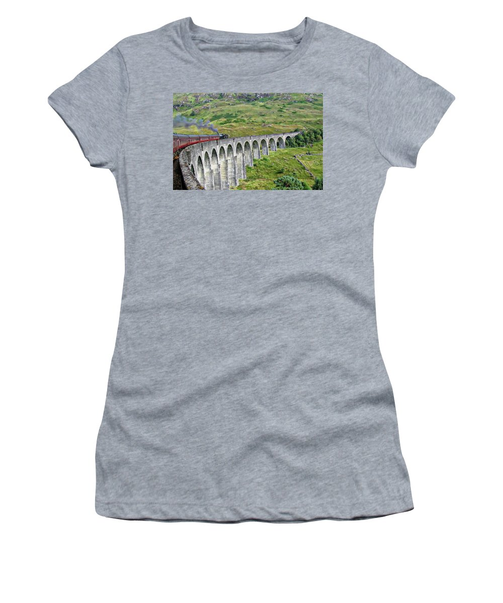 Scottish Women's T-Shirt (Athletic Fit) featuring the photograph Scottish Highlands by Anthony Dezenzio