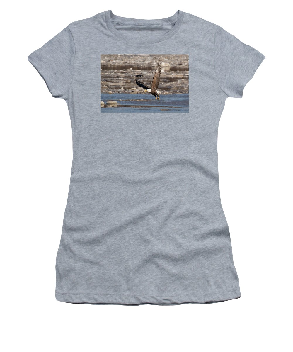 Bird Women's T-Shirt (Athletic Fit) featuring the photograph Snatch A Snack by Steve Stuller