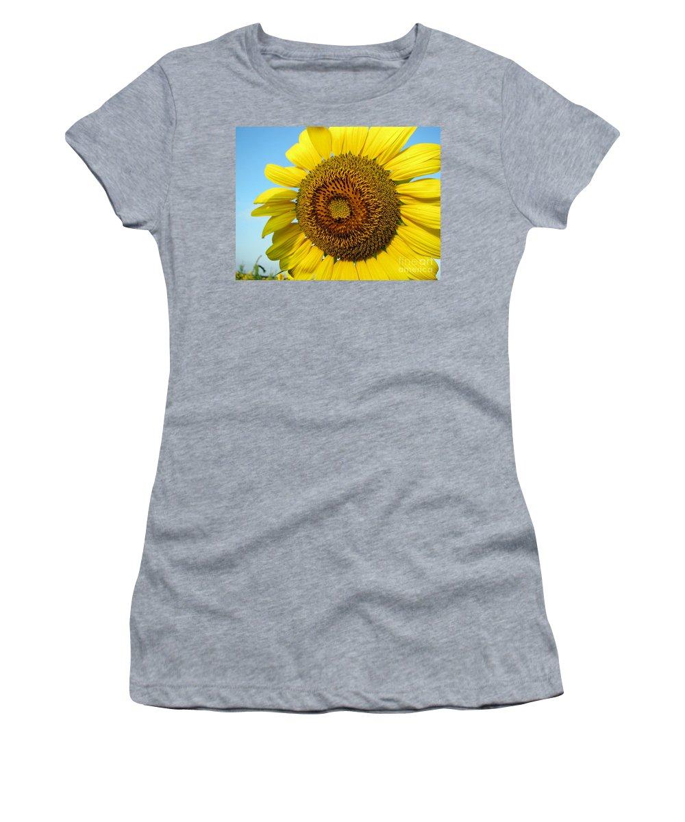 Sunflower Women's T-Shirt featuring the photograph Sunflower Series by Amanda Barcon